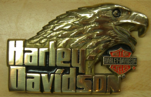 Harley Davidson Eagle Solid Brass Belt Buckle. Code HD001